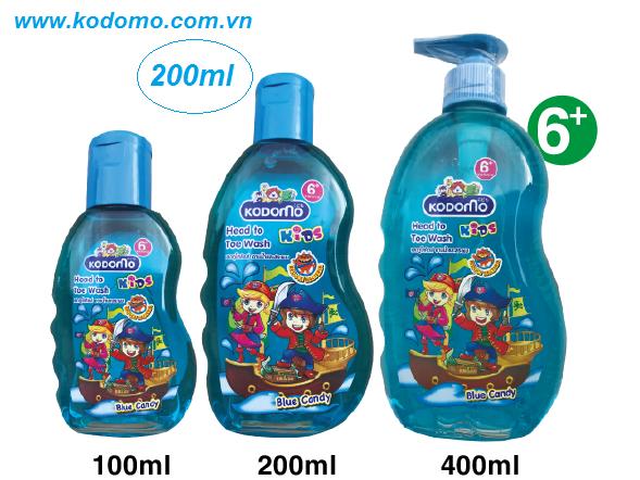 dau-tam-goi-kodomo-blue-candy-200ml
