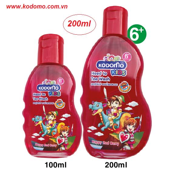 dau-tam-goi-kodomo-happy-red-berry-200ml