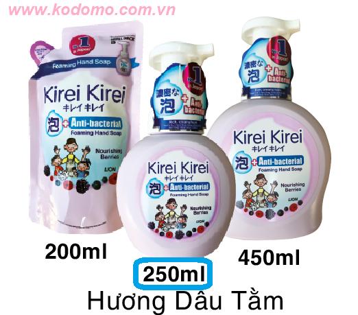bot-rua-tay-kirei-kirei-huong-dau-tam-250ml
